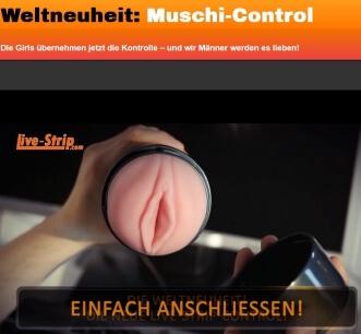 Livestrip Muschi Control
